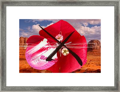 Big Red Desert Crucio 2 Framed Print