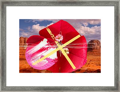 Big Red Desert Crucio Framed Print
