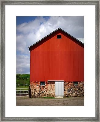 Big Red Framed Print by Linda Mishler