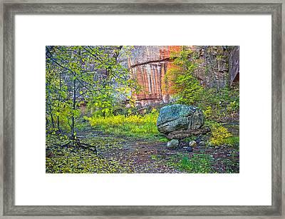 Big Rock Framed Print by Brian Lambert