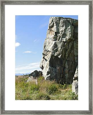Big Rock Indian Chief Framed Print