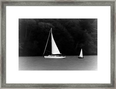 Big Sailboat Little Sailboat Framed Print by Tracie Kaska