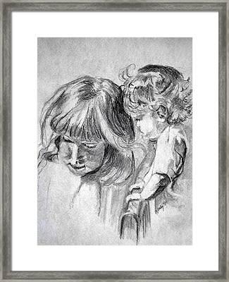 Big Sis Framed Print by Kathy Etoll-Throckmorton