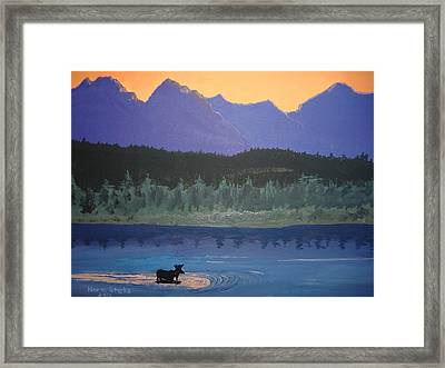 Framed Print featuring the painting Big Sky Country by Norm Starks