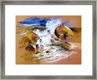 Framed Print featuring the painting Big Splash by Rae Andrews