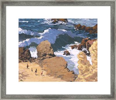 Big Surf At Little Corona Framed Print