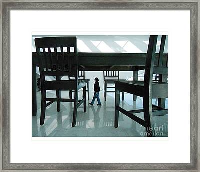 Big Table And Chairs Framed Print by Jim Wright