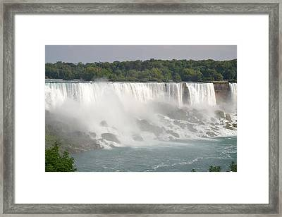 Big Waterfall Framed Print by Naomi Berhane