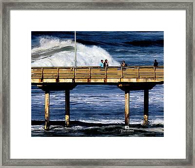 Big Waves At Ob Framed Print by Russ Harris