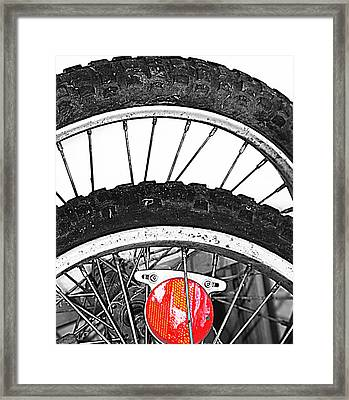 Big Wheels Keep On Turning Framed Print by Empty Wall