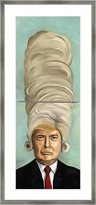 Big Wig Framed Print by Leah Saulnier The Painting Maniac