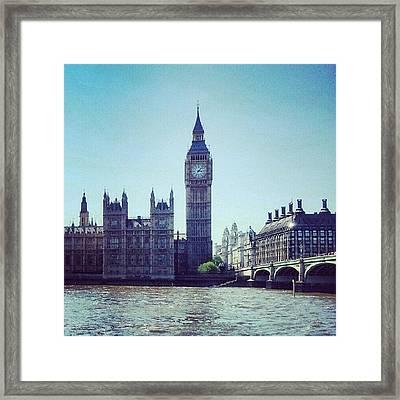 #bigben #buildings #westminster Framed Print