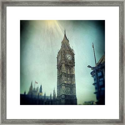 #bigben #uk #england #london #londoneye Framed Print