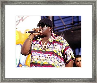 Biggie  Notorious B.i.g.1995 Framed Print