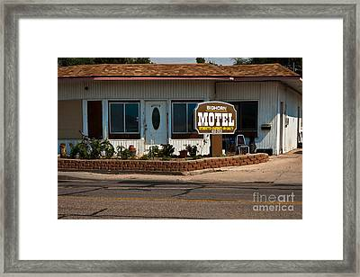 Bighorn Motel Framed Print