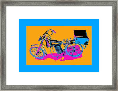 Bike-2c Framed Print by Mauro Celotti
