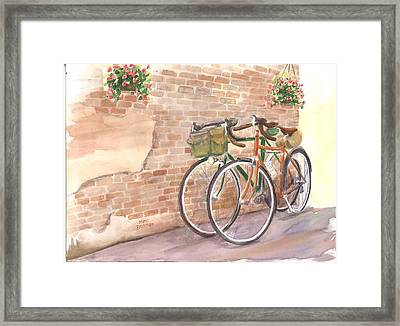 Bike Date Two Framed Print