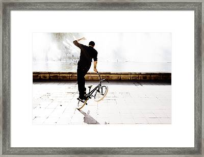 Bike Mx Framed Print by Gabriel Calahorra