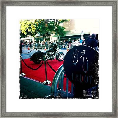 Bike Parking Framed Print by Nina Prommer