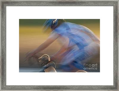 Bike Race 2 Framed Print by Catherine Lau