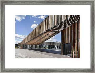 Bike Racks At A Modern Office Building Framed Print by Jaak Nilson