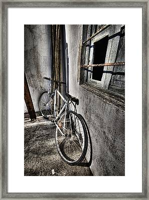 Bike Station Framed Print by Gabriel Calahorra