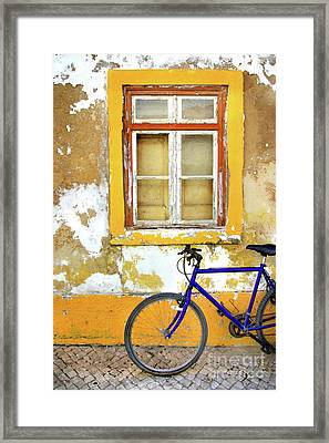Bike Window Framed Print by Carlos Caetano