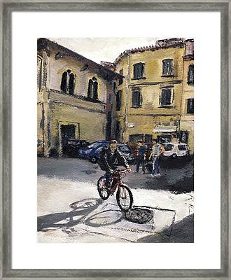 Biker Florencia Framed Print by Randy Sprout