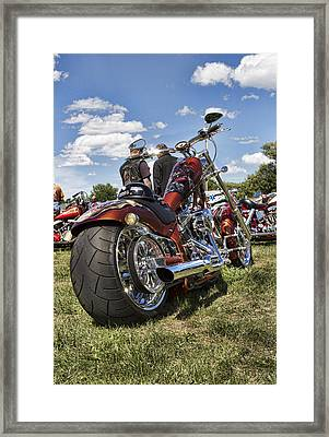 Biker Style Framed Print by Peter Chilelli