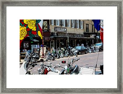 Biker's Bar Framed Print