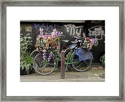 Bikes As Art Framed Print by Ed Rooney