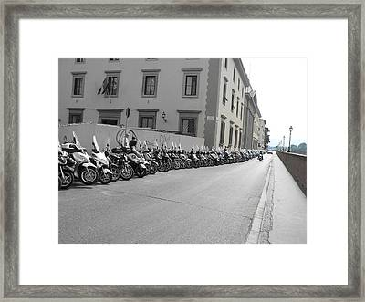 Framed Print featuring the photograph Bikes by Laurel Best