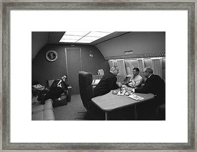 Bill Moyers Naps In A Chair On Air Framed Print