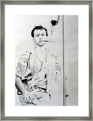 Bill Murray From The Movie 'where The Buffalo Roam' Framed Print by Ben Jackson