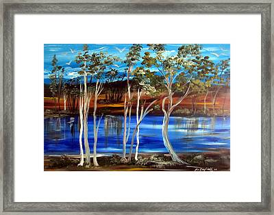 Framed Print featuring the painting Billabong by Roberto Gagliardi