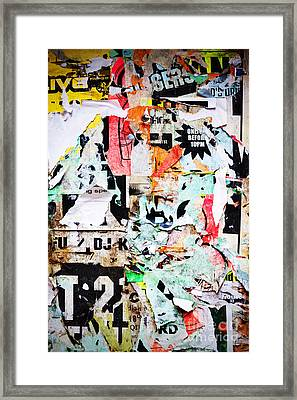 Billboard With Old Torn Posters Framed Print by Richard Thomas