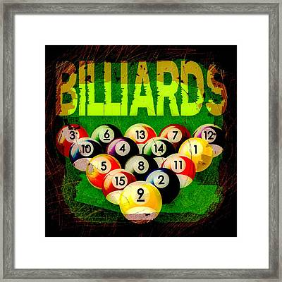 Billiards Abstract Framed Print by David G Paul
