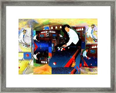 Billiards Framed Print by Martha Carlozzi