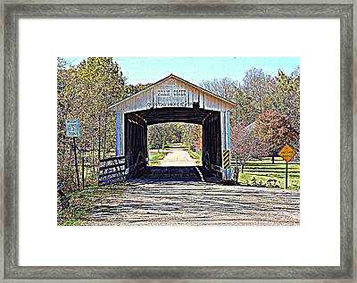 Billie Creek Village Covered Bridge Framed Print by Robin Pross