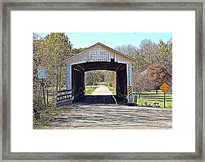 Billie Creek Village Covered Bridge Framed Print