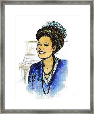 Billie Holiday 1947 Framed Print by Mel Thompson
