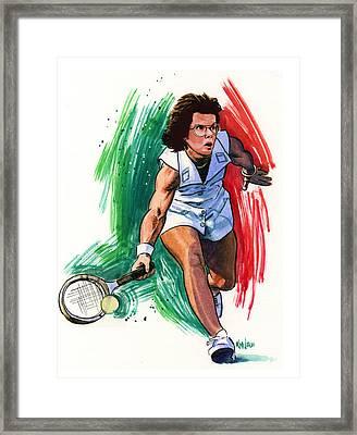Billie Jean King Framed Print by Ken Meyer