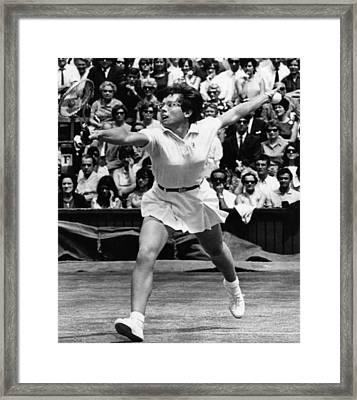 Billie Jean King, Wimbledon, England Framed Print