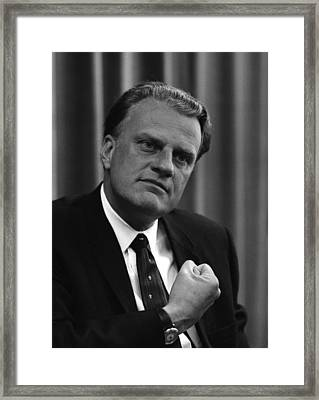 Billy Graham Was A Prominent Christian Framed Print by Everett