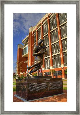 Billy Sims Framed Print by Ricky Barnard