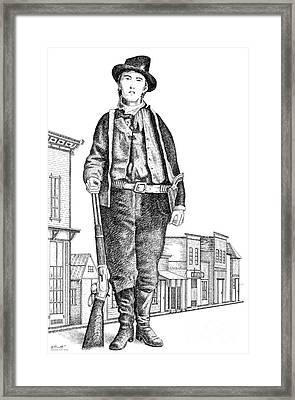 Billy-the-kid Framed Print