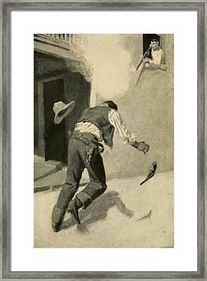 Billy The Kid Killing Robert Ollinger Framed Print