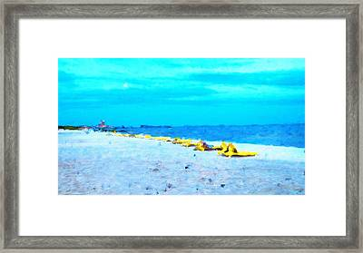 Biloxi Beach Framed Print by Scott Crump