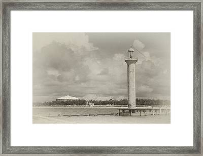Biloxi Lighthouse Framed Print by James Corley