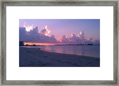 Framed Print featuring the photograph Biloxi Sunrise by Brian Wright
